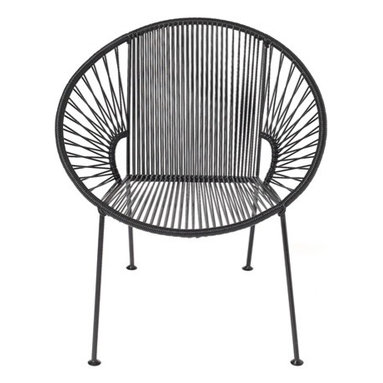 Concha Chair - This posh seat is comfortable original and very stylish. The flexible yet durable vinyl cord weave perfectly cradles your body within its clean lines and offers a casual sophistication to every home.