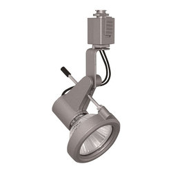 Juno Lighting - Trac 12 TL116 MR16 Delta 200 Series Track Head, Tl116sl - An angular die-cast fixture body and rod-supported lamp bezel create a semi-exposed, technical appearance. For special effects, an optional louver or color filter can be substituted for the clear glass lens that is smartly contained in the rod-supported front bezel.