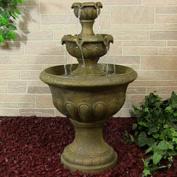 Outdoor Classics - Outdoor Classics Two Tier Falls Outdoor Fountain -