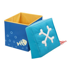 Seating Cube Pirate's Treasure - This storage ottoman would be perfect for the pirate-loving kidlet.