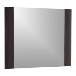Decor Wonderland Mirrors - Decor Wonderland Espresso Wood Wall Mirror - This framed wall mirror is perfect for your bedroom or living room that has rich brown furniture. This cappuccino wood framed wall mirror is one of our best sellers because it fits both modern and traditional home decor. Also works in any bathroom. Free Shipping!