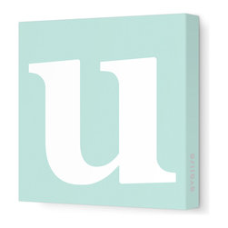 "Avalisa - Letter - Lower Case 'u' Stretched Wall Art, 12"" x 12"", Sea Green - Spell it out loud. These lowercase letters on stretched canvas would look wonderful in a nursery touting your little one's name, but don't stop there; they could work most anywhere in the home you'd like to add some playful text to the walls. Mix and match colors for a truly fun feel or stick to one color for a more uniform look."