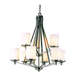 Trans Globe Lighting - Trans Globe 7929 BN Chandelier - Brushed Nickel - 30W in. - 7929 BN - Shop for Chandeliers from Hayneedle.com! Whether it's your dining space living room or foyer the Transglobe 7929 BN Chandelier - Brushed Nickel - 30W in. will add just the right amount of understated elegance with its clean lines and transitional design. Beautiful brushed nickel finish combines with delicate frosted glass shades to create an accent that will appeal to aficionados of both traditional and contemporary styles. This 30-inch transitional chandelier uses nine 60-watt medium base bulbs (not included) to add an inviting feel to any setting.