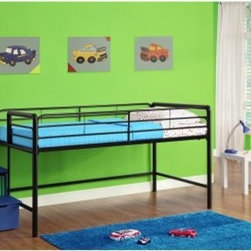 Dorel Home Junior Loft with Steps and Storage - Blue - Your child will love hanging out and playing under the Dorel Home Junior Loft with Steps and Storage - Blue. Kids can keep toys and other items underneath the bed as well. And for even more storage, the stairs to the loft bed double as storage boxes. Moms and dads will like this versatile bed, too, because it will help keep their little girl's room organized and neat. Plus, there's no need for a box spring, since the frame supports a standard twin-size mattress.About Dorel IndustriesFounded in 1962, Dorel Industries is a family of over 26 brands, including bicycle brands Schwinn and Mongoose, baby lines Safety 1st and Quinny, as well as home furnishing brands Ameriwood and Altra Furniture. Their home furnishing division specializes in ready-to-assemble pieces, including futons, microwave stands, ladders, and more. Employing over 4,500 people in 17 countries and over four continents, Dorel is renowned for their product diversity and exceptionally strong commitment to quality.