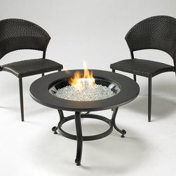 Saturn Gas Fire Pit Ensemble - The Saturn Gas Fire Pit Ensemble is a small table with big options. This fire pit table is easy to move and fits in any space, that it is perfect for smaller outdoor living areas or patios. With the addition of bistro or swivel chairs!