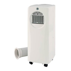 SPT Appliance - 9,000BTU cooling with 8,500BTU heating PAC - Highly portable slimline design . 9,000btu cooling power. 8,500btu heating power (heat pump technology). Digital temperature display. 2 fan speeds. Fire resistant PVC plastic housing . Removes moisture for personal comfort (dehumidifier functions automatically in AC or Heat mode). Washable air filter collects dust particles. Casters for easy mobility. Digital thermostat with remote control. Choice of programmable timer or continuous operation. Preset timer available, up to 12 hours. Directional air discharge louvers. Extendable exhaust hose (up to 5ft.). Built-in water tank or extended water tube for continuous drainage. Power cord storage . ETL. Included in Box: Standard accessories for exhaust hose installation and remote. Assembly required (exhaust). 15 in. L X 12 in. W X 29.61 in. H (47.4 lbs.)Stay COOL or WARM and breathe fresher air with the new WA-9061H unit. Enjoy a comfortable year-round environment with an air conditioner and heater unit. Cooling, dehumidifying and fan features all in one. Powered by 9,000btu cooling and 8,500btu heating capacity, it ideally cools or heats an area up to 250sq.ft.Note: Exhaust hose installation required (complete fitting kit included).