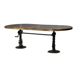 Industrial Table - CDI. 95w x 44d x 30-42h. Available for order at Warehouse 74.