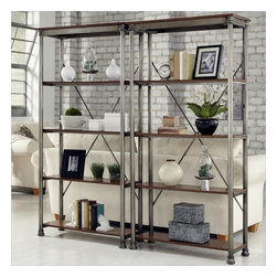 Home Styles - Home Styles The Orleans Multi-Function Etagere Set - Home Styles - Bookcases - 506176PKG - Home Styles The Orleans Multi-Function Etagere Set