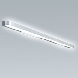 """Artemide - Artemide Talo 180 240 wall sconce - Product Details:   The Talo 180 or 240 wall sconce was designed by Neil Poulton for Artemide. The Talo is designed for indirect fluorescent lighting. The body is composed of extruded aluminum, and the end caps are made in die-cast aluminum in your choice of white or silver grey powder coated finish. Upper diffusers are made of molded polycarbonate, lower diffuser in opaline molded polycarbonate. ADA and ETL LISTED  Details:     Manufacturer:  Artemide   Designer:  Neil Poulton     Made in: Italy   Dimensions:   180 Height: 1 1/2"""" (4cm) X Depth: 3 15/16"""" (10cm) Length:71"""" (180cm)  240 Height: 1 1/2"""" (4cm) X Depth: 3 15/16"""" (10cm) Length:95"""" (240cm)     Light bulb:   180 2X39W fluorescent  240 2X54W fluorescent     Material:  aluminum, polycarbonate,"""