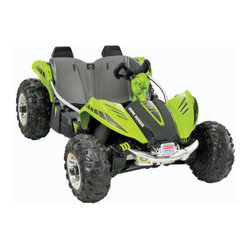 Fisher-Price - Dune Racer - Features: -Get into the action with Monster Traction. -Durable contruction. -Roomy open cockpit design for two riders. -Storage under the hood. -12 Volt of battery power. -Race over ruts, wet grass, gravel, mud and more.