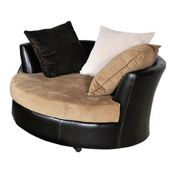 Chelsea Home Furniture - Chelsea Home Domino Swivel Chair in Havana Ecru - Domino Swivel Chair in Havana Ecru belongs to Benchmark collection by Chelsea Home Furniture.