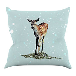 "Kess InHouse - Monika Strigel ""Fawn"" Throw Pillow (18"" x 18"") - Rest among the art you love. Transform your hang out room into a hip gallery, that's also comfortable. With this pillow you can create an environment that reflects your unique style. It's amazing what a throw pillow can do to complete a room. (Kess InHouse is not responsible for pillow fighting that may occur as the result of creative stimulation)."