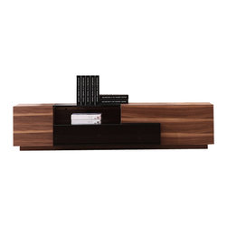 J&M Furniture - Modern Entertainment TV Center - This Modern Entertainment TV Center by M Furniture offers a modern look with a clean uncluttered design, functionally multipurpose structure. Crafted from durable wood, wood products and veneers.