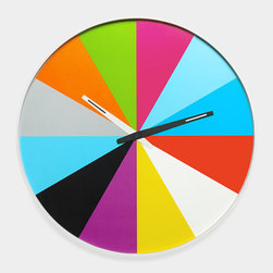 Ultra-Flat Multicolor Wall Clock - A kids' space is the perfect excuse to add some color. I wish it was yellow o'clock right now.