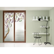 GLASS SLIDING DOOR WITH FIXED LATERAL WINGS ALESSANDRA ELEGANCE COLLECTION BY FO