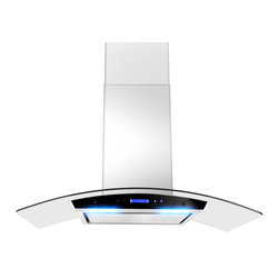 """AKDY - AKDY AG-Z198KZ4 Euro Stainless Steel Wall Mount Range Hood, 30"""" - The AKDY 198KZ4 stainless steel wall mount range hood operates on 120 volt electrical systems at 60 Hz and is ETL Certified for US amp; Canada electrical safety. The AKDY 198KZ4 stainless steel wall mount range hood  offers both 30"""", 36"""" and convertible to ductless. 198KZ4 has a telescopic chimney and is ideal for 8-8.5 foot ceilings. The fan offers three different speeds, and has a max airflow rating of 760 CFM. The single chamber ultra-quiet motor has a noise level rating between 35dB (low speed) to 65 dB (max speed). However, the sound absorbing panel is able to reduce the noise level to 55db at max speed. The AKDY 198KZ4 features a touch sensitive control panel with blue LED indicator lights. The 198KZ4 has two 2-watt LED lights that provide beautiful illumination to your cooktop. The aluminum grease filter is dishwasher safe for cleaning."""