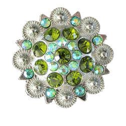 DaRosa Creations - Crystal Drawer Knob with Green and Iridescence Crystals - Crystal Drawer Knob with Green and Iridescence Crystals