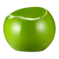 ZUO MODERN - Drop Stool Green - Like a sculpted drop of dew, the Drop stool not only has a wonderful shape, but also a perfect seating surface. It is formed from ABS plastic and comes in four glossy colors: black, white, red, and green.
