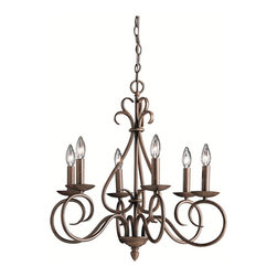 BUILDER - BUILDER Norwich Traditional Chandelier X-ZT3171 - The romantic details, including the scrollwork and candelabra lights, add a visually stunning effect to this Kichler Lighting chandelier. From the Norwich Collection, this classic design comes finished in a rich toned Tannery Bronze hue that compliments all the elegant details, ensuring it will compliment the finer details in your home.