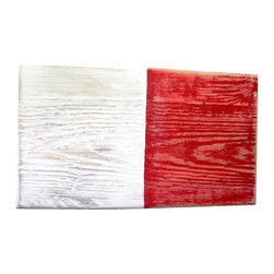 Beachcomber Trading - Nautical Wood Signal Flag - Hotel, Large (7x12) - A unique way to decorate your walls with nautical flair. Spell out your name or a favorite saying with international nautical alpha signal flag signs. You can have fun by keeping your family and friends guessing at what the letters spell out.