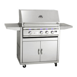 "Summerset - 32"" TRL Stainless Steel Gas Grill Cart - Stainless Steel Construction"