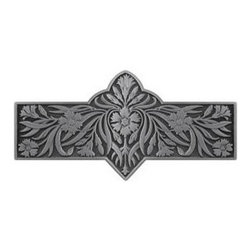 "Inviting Home - Dianthus Pull (antique pewter) - Hand-cast Dianthus Pull in antique pewter finish; 4-3/8""W x 2-2/8""H; Product Specification: Made in the USA. Fine-art foundry hand-pours and hand finished hardware knobs and pulls using Old World methods. Lifetime guaranteed against flaws in craftsmanship. Exceptional clarity of details and depth of relief. All knobs and pulls are hand cast from solid fine pewter or solid bronze. The term antique refers to special methods of treating metal so there is contrast between relief and recessed areas. Knobs and Pulls are lacquered to protect the finish. Alternate finishes are available. Detailed Description: The Dianthus knobs bring the sophisticated feel the antique homey feel to your cabinets. These pulls will be a great accent to old-world cabinets as well as bringing a polished feel to any antiqued furniture. Sometimes antique finishes end up looking a bit shabby and drabby but installing these knobs will make the cabinets pure chic. It would be a better choice to keep with Dianthus pulls if you would like to use them in conjunction with the pulls. Dianthus knobs are part of English Garden Hardware Collection. Reflecting the meticulous effort that produced these stunning gardens from a bygone era each of the knobs and pulls in this line features individually hand-cast and hand-finished design work. There are soft graceful roses and poppies (McKenna's Rose Knobs and Poppy Knobs) reminiscent of classic beauty and elegance. While other like Dianthus Pulls or Mountain Ash knobs feature crisply detailed styling with colorful background. Each knob's design marries Mother Nature and Craftsmanship into decorative hardware that adds beauty to any room of your home."