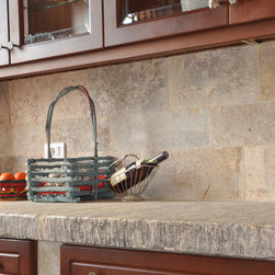 Kitchen Countertops out of  Antique Thick Limestone Slabs, (Mediterranean Style) - Image provided by 'Ancient Surfaces'