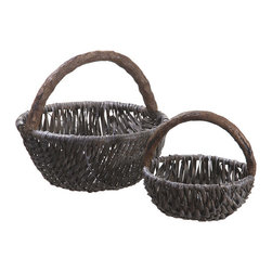 Silk Plants Direct - Silk Plants Direct Round Basket (Pack of 1) - Silk Plants Direct specializes in manufacturing, design and supply of the most life-like, premium quality artificial plants, trees, flowers, arrangements, topiaries and containers for home, office and commercial use. Our Round Basket includes the following: