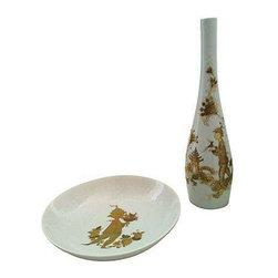Bjorn Wiinblad Vase & Bowl Set - $799 Est. Retail - $499 on Chairish.com -