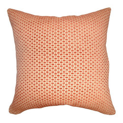 Pillow Collection Inc - The Pillow Collection Verdon Net Pillow - Tangerine Multicolor - P18-D-36170-TAN - Shop for Pillows from Hayneedle.com! Cast a wide net of style and come up with the perfect catch when you have The Pillow Collection Verdon Net Pillow - Tangerine. Made of 44% rayon 32% polyester and 22% cotton this charming square pillow features a plush 95/5 feather/down insert for ultra softness. The classic geometric design is beautifully complemented in a vibrant tangerine for a look that adds an elegance to any space.About The Pillow CollectionIdentical twin brothers Adam and Kyle started The Pillow Collection with a simple objective. They wanted to create an extensive selection of beautiful and affordable throw pillows. Their father is a renowned interior designer and they developed a deep appreciation of style from him. They hand select all fabrics to find the perfect cottons linens damasks and silks in a variety of colors patterns and designs. Standard features include hidden full-length zippers and luxurious high polyester fiber or down blended inserts. At The Pillow Collection they know that a throw pillow makes a room.