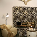 Circle of Life African Stencil - African Circle of Life Wall Stencil from Royal Design Studio Stencils. This graphic African tile pattern looks great painted on a fireplace but could also be used on walls, floors and beneath chair rails.