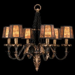 Fine Art Lamps - Fine Art Lamps Epicurean 404840ST Six-Light 29'' Wide Grand Chandelier - Fine Art Lamps' artistic heritage began in the glass making factory founded by Max Blumberg in New York in the late nineteenth century. In 1940 his son Jack Blumberg gathered the finest designers sculptors and decorative artists to fulfill their vision of becoming the premier lighting manufacturer in the world and Fine Art Lamps was born. From the beginning Fine Art Lamps has achieved a high artistic standard by creating unique and original lighting designs of beautifully handcrafted metal hand-blown glass and other unique materials with exquisite hand applied finishes. In all Fine Art lamps represents the singular vision of over 700 skilled designers artists craftsman and associates working together in five plants totaling over 400000 square feet to create unique works of art for the international design community. An American Manufacturer with International AppealFine Art Lamps has a global market and universal design appeal. From its' Florida facilities Fine Art Lamps lighting travels to every corner of the world destined for the finest homes villas palaces hotels and public spaces.Fine Art Lamps has expertise in foreign wiring requirements covering every continent and customers rely upon the company's International Product Specification Brochure for accurate measurements weights and technical specifications.