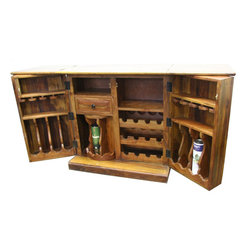 ARTeFAC - Compact Wooden Bar Counter in Solid Hardwood - Compact Wooden Bar Counter in Solid Hardwood