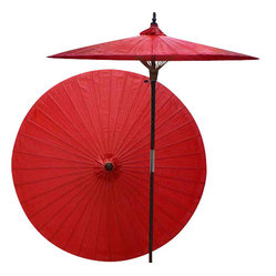 Cherry patio umbrella