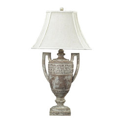 Dimond Lighting - 93-9197-LED Greek Key Table Lamp - Traditional Table Lamp from the Greek Key Collection by Dimond Lighting.