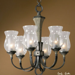 "21239 Gilman, 6 Lt Curved Arm Chandelier by uttermost - Get 10% discount on your first order. Coupon code: ""houzz"". Order today."