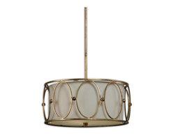 Uttermost - Uttermost 21955 Ovala 3-Light Gold Drum Pendant - Uttermost 21955 Ovala 3-Light Gold Drum Pendant