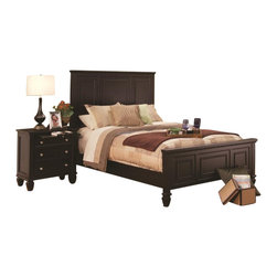 Coaster - Coaster Sandy Beach 6 Piece Bedroom Set in Cappuccino Finish - Coaster - Bedroom Sets - 201991XXPKG4 - Coaster Sandy Beach Nightstand in Cappuccino Finish (included quantity: 2) This classic nightstand will be the perfect addition to your master bedroom. A clean shape defines this piece, with simple molding and square tapered feet. Three spacious drawer will help you hide clutter at your bedside, while allowing you to keep essentials close by. A pull out tray offers you additional surface area for snacks and beverages, making this a highly functional dresser. Add a lamp and clock to complete the look and show off your personal style. Available in White and Black finishes, this nightstand is sure to complement your bedroom decor.