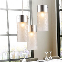 JollyHome - JollyHome Contracted Pendant Lighting Fixtures Three Cylinder Adjustable Length - Suitable Bedroom, Dinning Room, Living Room, Hall, Bar Counter.Perfect Design in Home Lighting and Decoration.Adjustable Chain Length