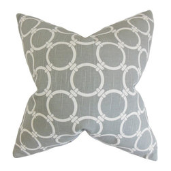 "The Pillow Collection - Betchet Geometric Pillow, Ash 20"" x 20"" - Striking and refreshing, this throw pillow is a great addition to your collection."