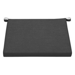Rocha Sunbrella® Charcoal Lounge Chair Cushion - Add extra comfort to Rocha lounge chair with fade-, water- and mildew-resistant Sunbrella® acrylic cushions in chic charcoal.