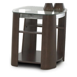 Klaussner - Rectangular End Table - The Christina occasional table collection is a fabulous addition to the modern living scheme.