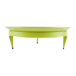 Steel Life - Basin Mod Dish, Verdant (Lime Green), 16x16 - Pretty things deserve a pedestal. And if the pedestal is pretty too, well, all the better. Use this colorful dish as a planter or a fruit bowl, plop it in the center of your dining table or entryway console and you've got a centerpiece with both presence and good looks.