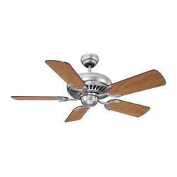 """Savoy House - Savoy House Pine Harbor 42"""" Ceiling Fan in Satin Nickel - Savoy House Pine Harbor 42"""" Model SV-42-SGC-5RV-SN in Satin Nickel with Reversible Chestnut/Maple Finished Blades."""