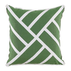 Chinese Chippendale Pillow - Green - Clayton Gray Home -