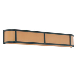 Nuvo Lighting - Nuvo Lighting 60-2876 Odeon 4-Light Wall Sconce with Parchment Glass - Nuvo Lighting 60-2876 Odeon 4-Light Wall Sconce with Parchment Glass