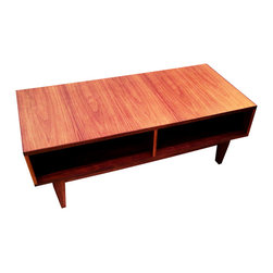 Moderncre8ve - Mid Century Modern Walnut Coffee Table - You're looking at one of my original designs, made in a Mid Century Style.