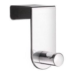 Beslagsboden - Self-Adhesive Door Hook in Stainless Steel Finish - Inside measurement: 1.65 in.