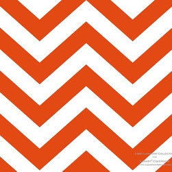 Casart coverings - Libby Langdon Collection - Chic Chevron - Chic Chevron - Orange Fire from Libby Langdon Collection for Casart Coverings