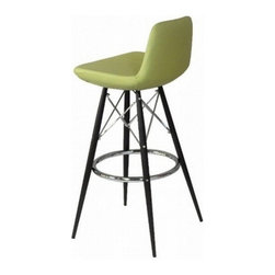 """Soho Concept - Pera MW Barstool Soho Concept Barstools, Black Leatherette - Pera MW Barstool (Seat height of this bar stool is 29"""") with metal base are contemporary stools for home, office, restaurant, bar or hotel.  Removable seat cover of Pera MW makes cleaning a snap!  Great modern bar chair colors.  This modern barstool chair design by Soho Concept Furniture represents the latest in modern designer bar furniture for home, office, restaurant and hospitality furniture settings.  These modern Soho Concept barstools are manufactured with high standards of craftsmanship, luxurious textiles and the latest in modern bar furniture material technology. Soho Concept bar stool chairs are commercial quality, stylish, sturdy and durable and will be enjoyed for many years to come.  The Soho Concept furniture factory supplies modern bar stools and counter stools to luxury homes, luxurious hotels, restaurants, bars and night clubs worldwide.  All Soho Concept Furniture designs are contemporary modern furniture designs for dining room, living room, lobby, restaurant, bar and hospitality use and come in durable upholstery materials and fun colors for every modern furniture setting."""